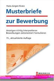 Cover of: Musterbriefe zur Bewerbung