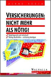 Cover of: Versicherungen