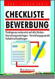 Cover of: Checkliste Bewerbung