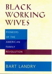 Cover of: Black Working Wives