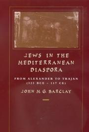 Cover of: Jews in the Mediterranean diaspora