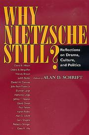 Cover of: Why Nietzsche Still?