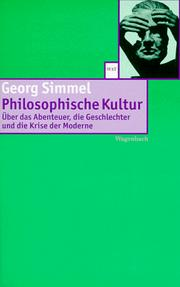 Philosophische Kultur by Georg Simmel