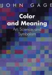 Cover of: Color and meaning | Gage, John.