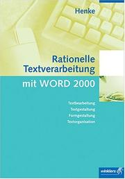 Cover of: Rationelle Textverarbeitung mit Word 2000. Neue Norm DIN 5008.