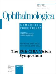 Cover of: Ciba Vision Symposium | Y. Oguchi
