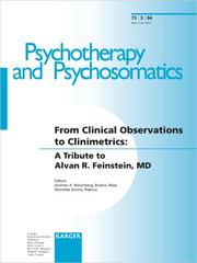 Cover of: From Clinical Observations to Clinimetrics