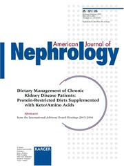 Cover of: Dietary Management of Chronic Kidney Disease Patients | American Journal of Nephrology
