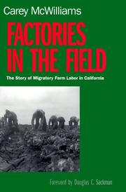 Cover of: Factories in the Field | McWilliams, Carey