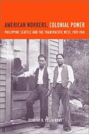 Cover of: American Workers, Colonial Power | Dorothy B. Fujita-Rony