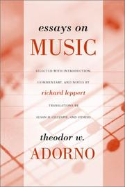 Cover of: Essays on Music