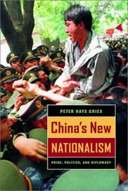 Cover of: China's New Nationalism | Peter Hays Gries