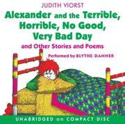 Cover of: Alexander and the Terrible, Horrible, No Good, Very Bad Day CD