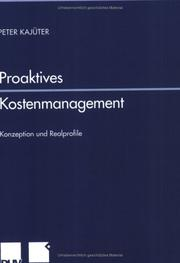 Cover of: Proaktives Kostenmanagement. Konzeption und Realprofile