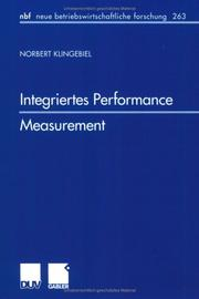 Cover of: Integriertes Performance Measurement