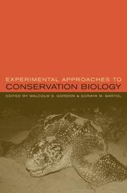 Cover of: Experimental Approaches to Conservation Biology