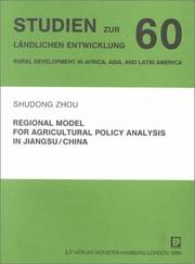 Cover of: Regional Model for Agricultural Policy Analysis in Jiangsu/China (Rural Development in Africa, Asia & Latin America)