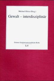Cover of: Gewalt - Interdisziplinär