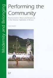 Cover of: Performing the Community | Cora Govers