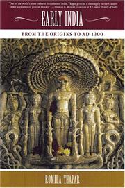 Cover of: Early India: From the Origins to AD 1300