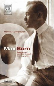 Cover of: Max Born - Baumeister der Quantenwelt | Nancy T. Greenspan