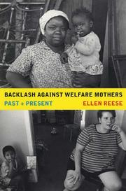 Cover of: Backlash against Welfare Mothers | Ellen Reese