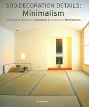 Cover of: 500 Decoration Details: Minimalism: 500 Details de Decoration: Minimalisme/500 Wohnideen | Simone Schleifer