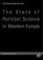 The State of Political Science in Western Europe