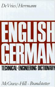 Cover of: English-German technical and engineering dictionary