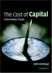 Cover of: The Cost of Capital | Seth Armitage