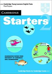 Cover of: Cambridge Starters 2 Student's Book