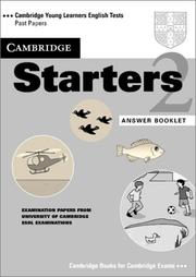 Cover of: Cambridge Starters 2 Answer Booklet