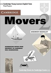 Cover of: Cambridge Movers 2 Answer Booklet