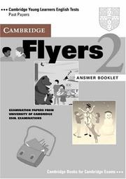 Cover of: Cambridge Flyers 2 Answer Booklet