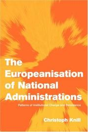 Cover of: The Europeanisation of National Administrations