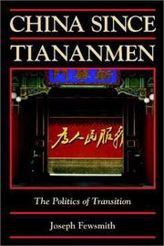China since Tiananmen