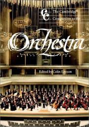 Cover of: The Cambridge companion to the orchestra