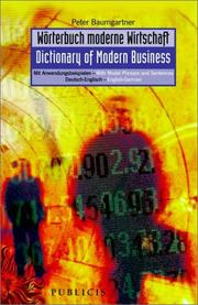 Cover of: Dictionary of Modern Business