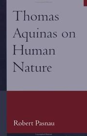 Cover of: Thomas Aquinas on Human Nature | Robert Pasnau