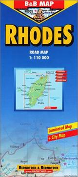 Cover of: B&B Rhodes / Rhodos (Laminated Map) |