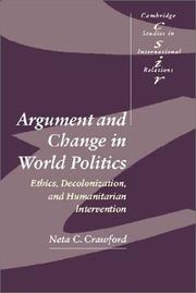 Cover of: Argument and Change in World Politics | Neta C. Crawford