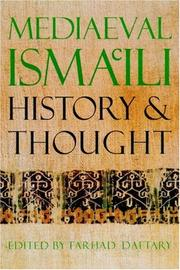 Cover of: Mediaeval Isma'ili History and Thought