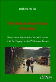 Cover of: The Balkan Peace Team 1994-2001