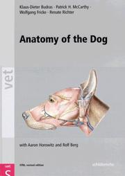 Cover of: Anatomy of the Dog | Klaus-Dieter Budras