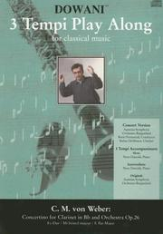 Cover of: Concertino for Clarinet in Bb and Orchestra Op. 26 in Eb major (3 Tempi Play Along)