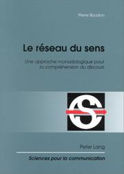 Cover of: Le reseau du sens