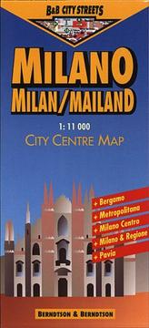 Cover of: Berndtson & Berndtson Milan City Streets Map (City Streets)
