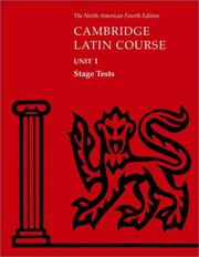 Cover of: North American Cambridge Latin Course Unit 1 Stage Tests