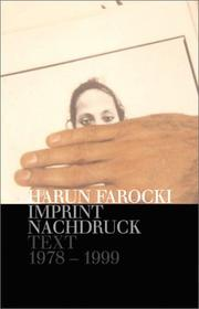 Cover of: Nachdruck/Imprint