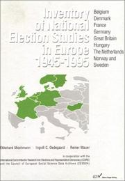 Cover of: Inventory of National Election Studies in Europe, 1945-1995 | Ekkehard Mochmann